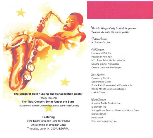 Jazz For Peace Sample Fliers And Brochures